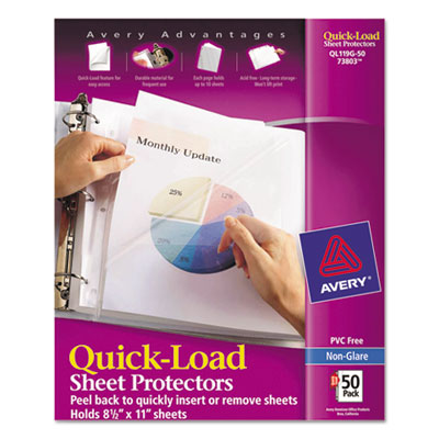 Avery 73803 Quick-Load Heavyweight Sheet Protector