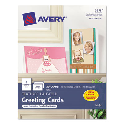 Avery 3378 Greeting Cards with Matching Envelopes