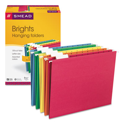 Smead 64059 Colored Hanging File Folders