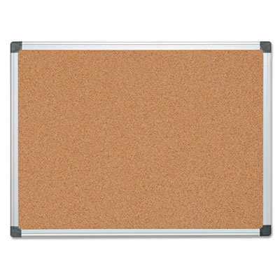 Bi-Silque Visual Communication Products CA051170 MasterVision Value Cork Bulletin Board with Aluminum Frame