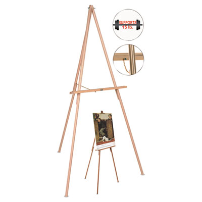 Bi-Silque Visual Communication Products FLX06203MV MasterVision Oak Display Tripod Easel
