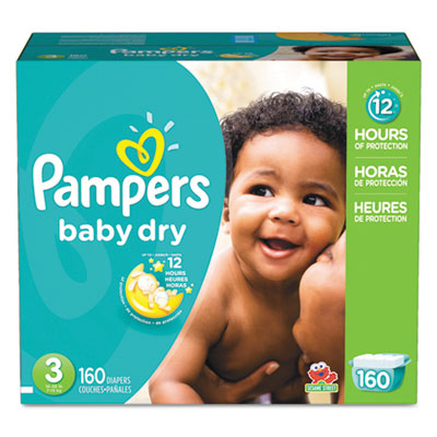Pampers 86237CT Baby Dry Diapers