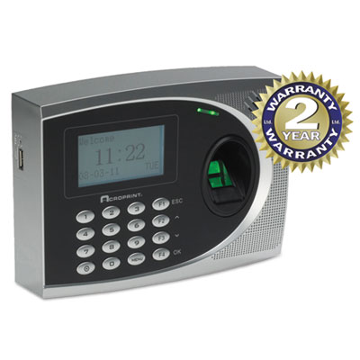 Acroprint 010250000 timeQplus Biometric Time and Attendance System with Web Option