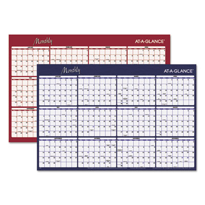 AT-A-GLANCE A152 Reversible Horizontal Erasable Wall Planner