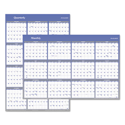 AT-A-GLANCE A1152 Vertical/Horizontal Erasable Quarterly/Monthly Wall Planner