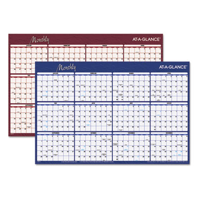 AT-A-GLANCE A102 Reversible Horizontal Erasable Wall Planner