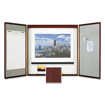 Quartet 851 Marker Board Cabinet with Projection Screen