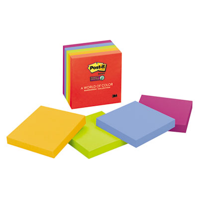 3M 6545SSAN Post-it Notes Super Sticky Pads in Marrakesh Colors