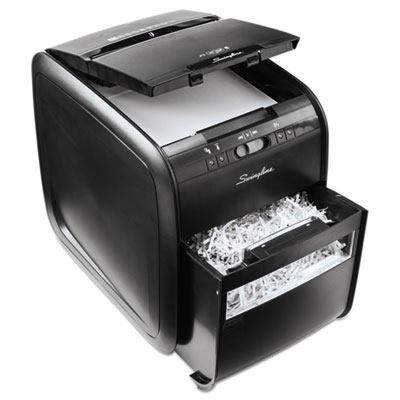 Swingline 1757574 Stack-and-Shred 80X Cross-Cut Auto Feed Shredder