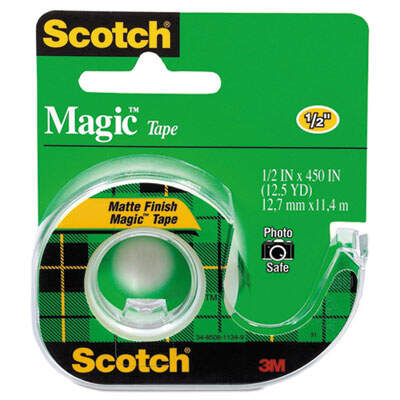 3M 104 Scotch Magic Tape in Refillable Handheld Dispenser