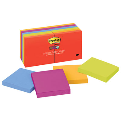 Post-it 65412SSAN Notes Super Sticky Pads in Marrakesh Colors