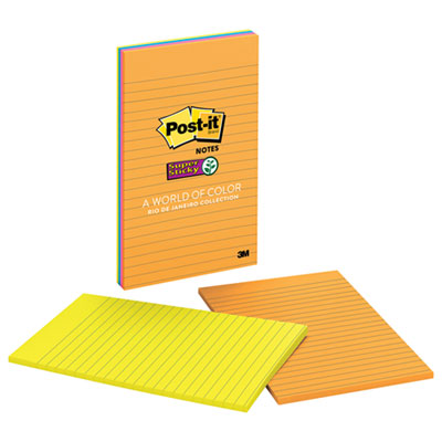 Post-it 5845SSUC Notes Super Sticky Pads in Rio de Janeiro Colors