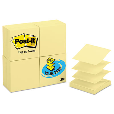 Post-it R33024VAD Pop-up Notes Original Canary Yellow Pop-up Refill