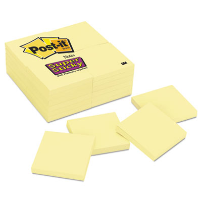 Post-it 65424SSCY Notes Super Sticky Pads in Canary Yellow