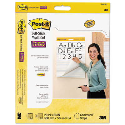 Post-it 566PRL Easel Pads Self-Stick Wall Pad