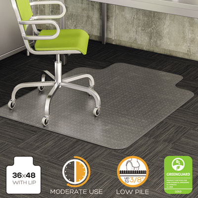 deflecto CM13113 DuraMat Moderate Use Chair Mat for Low Pile Carpeting