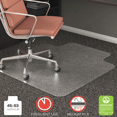 deflecto CM15233 RollaMat Frequent Use Chair Mat for Medium Pile Carpeting