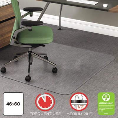 deflecto CM15443F RollaMat Frequent Use Chair Mat for Medium Pile Carpeting