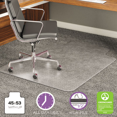 execumat intensive all day use chair mat for plush high pile carpeting