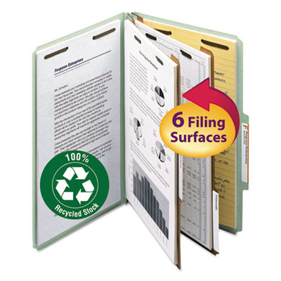 Smead Manufacturing 19022 Smead 100% Recycled Pressboard Classification Folders