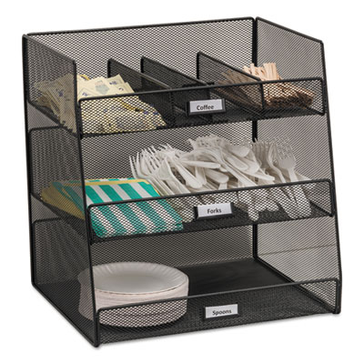 Safco 3293BL Onyx Breakroom Organizers