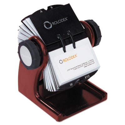 Rolodex 1734242 Wood Tones Open Rotary File