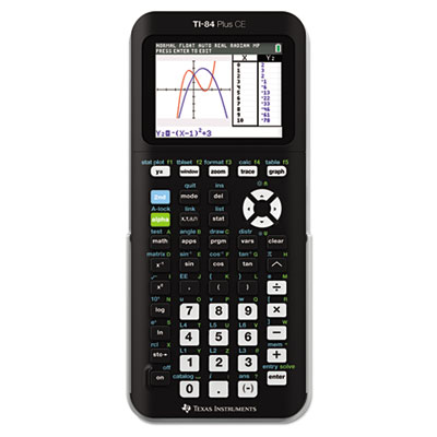 Texas Instruments 84PLCETBL TI-84Plus C Silver Edition Programmable Color Graphing Calculator