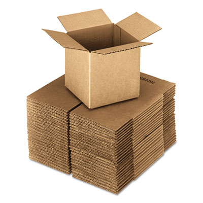 General Supply 555 United Facility Supply Brown Corrugated - Cubed Fixed-Depth Shipping Boxes