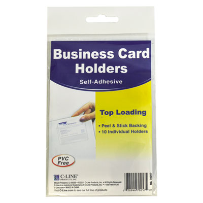 C-Line 70257 Self-Adhesive Business Card Holders