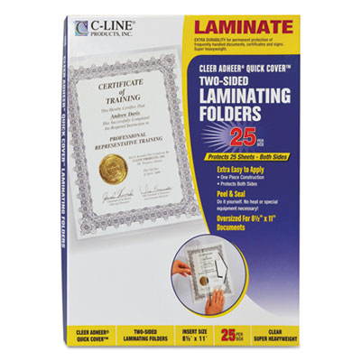 C-Line 65187 Quick Cover Laminating Pockets