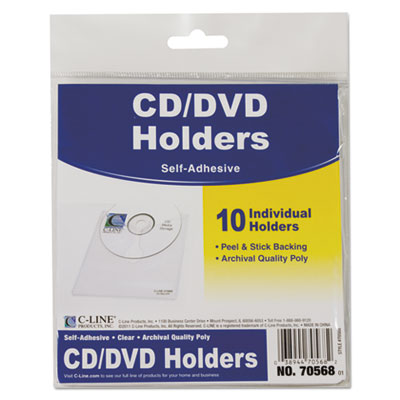 C-Line 70568 Self-Adhesive CD Holder