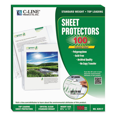 C-Line 62617 Specialty Sheet Protector