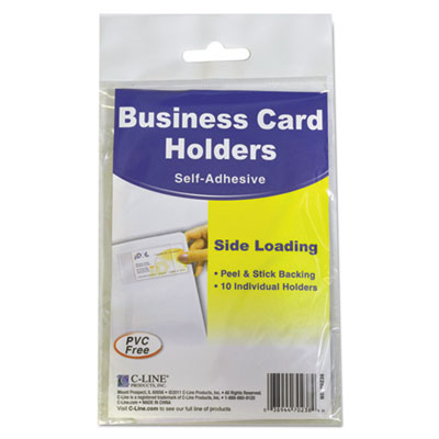 C-Line 70238 Self-Adhesive Business Card Holders