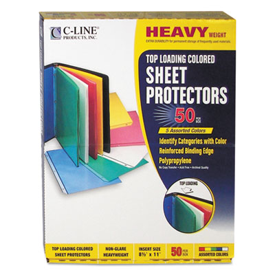 C-Line 62010 Colored Sheet Protector