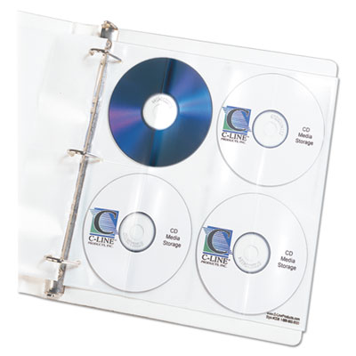 C-Line 61948 Deluxe CD Ring Binder Storage Pages