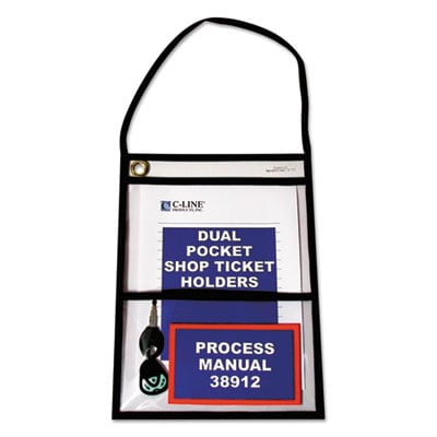 C-Line 38912 Stitched Shop Ticket Holders with Hanging Strap