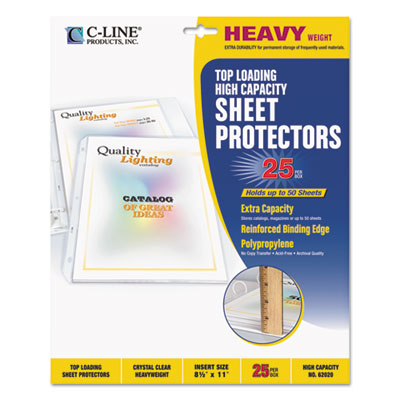 C-Line 62020 High-Capacity Sheet Protector
