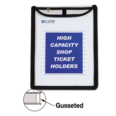 C-Line 39912 High Capacity Stitched Top Shop Ticket Holders