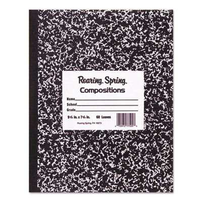 Roaring Spring 77222 Marble Cover Composition Book