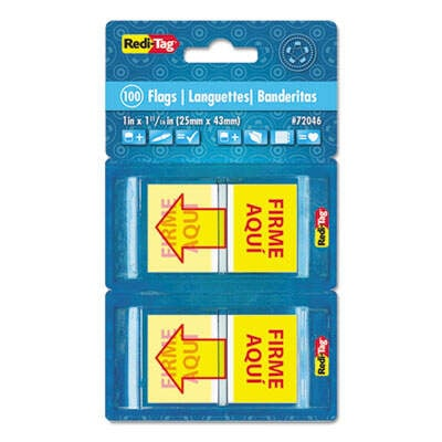 Redi-Tag 72046 Spanish Pop-Up Arrow Flags