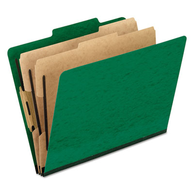 Pendaflex 1257GR Six-Section PressGuard Colored Classification Folders