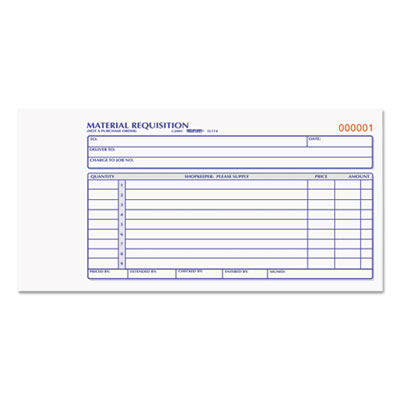 Rediform 1L114 Material Requisition Book