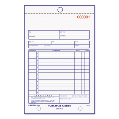 Rediform 1L141 Purchase Order Book