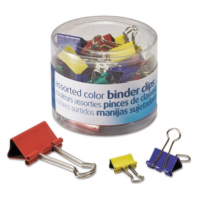 Officemate 31026 Assorted Colors Binder Clips