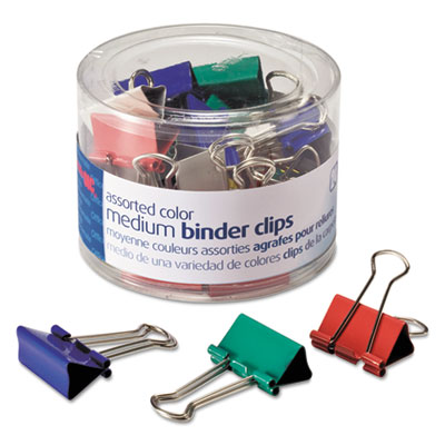Officemate 31029 Assorted Colors Binder Clips