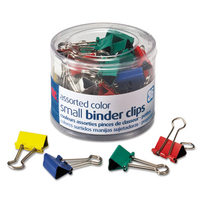 Officemate 31028 Assorted Colors Binder Clips