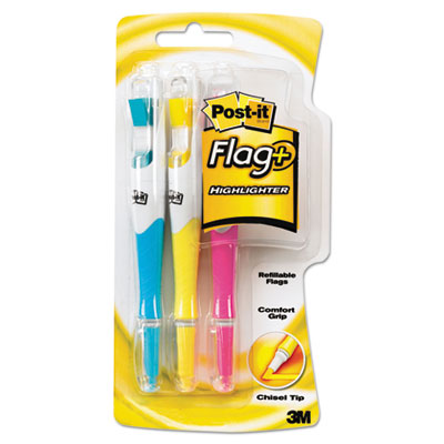 3M 689HL3 Post-it Flag+ Writing Tools Flag + Highlighter