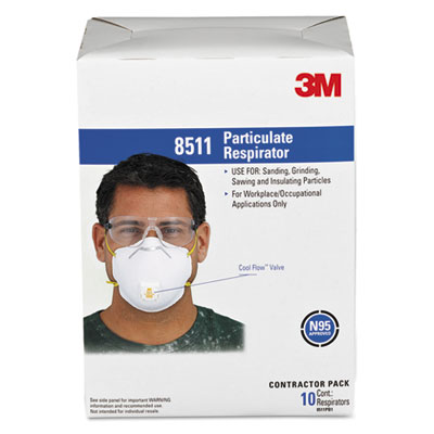 3M Particulate Respirator 8511 N95 with 3M Cool Flow Exhalation Valve