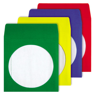 Quality Park 68905 Colored CD/DVD Paper Sleeves