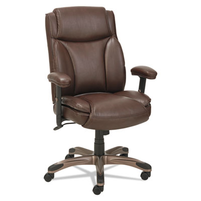 Alera VN5159 Veon Series Leather Mid-Back Managers Chair